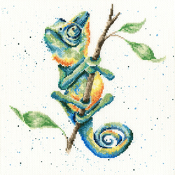 Cross stitch kit Hannah Dale - One In A Chameleon - Bothy Threads