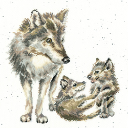 Cross stitch kit Hannah Dale - Wolf Pack - Bothy Threads