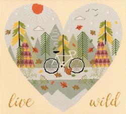 Cross stitch kit Hilary Yafai - Live Wild - Bothy Threads