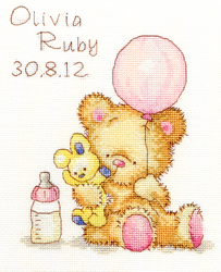 Cross stitch kit Huggles - Balloon - Bothy Threads