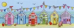 Cross stitch kit Fun! - Beach Hut Fun - Bothy Threads