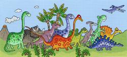 Cross stitch kit Fun! - Dinosaur Fun - Bothy Threads