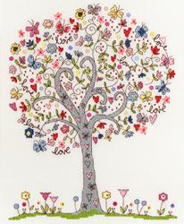 Cross stitch kit Love - Love Tree - Bothy Threads