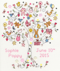 Cross stitch kit Love - Love Baby Girl - Bothy Threads