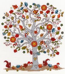 Borduurpakket Love - Love Autumn - Bothy Threads