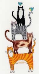 Cross stitch kit Stacks! - Cat Stack - Bothy Threads