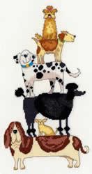 Borduurpakket Stacks! - Dog Stack - Bothy Threads