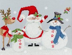 Cross stitch kit Karen Tye Bentley - Snowy Friends - Bothy Threads