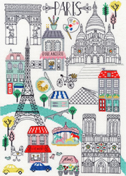 Borduurpakket Cities - Love Paris - Bothy Threads