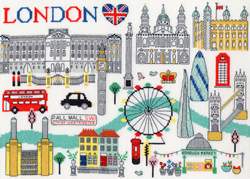 Borduurpakket Cities - Love London - Bothy Threads