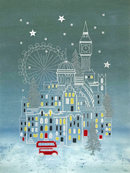 Cross stitch kit Alison McGarrigle - Snowy London - Bothy Threads
