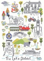 Cross stitch kit Jessica Hogarth - Love The Lakes - Bothy Threads