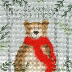 Borduurpakket Xmas Bear - Bothy Threads