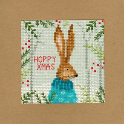 Cross stitch kit Christmas Cards - Xmas Hare - Bothy Threads