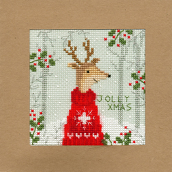 Cross stitch kit Christmas Cards - Xmas Deer - Bothy Threads