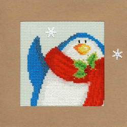 Cross stitch kit Christmas Cards - Snowy Penguin - Bothy Threads