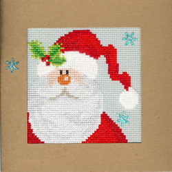 Cross stitch kit Christmas Cards - Snowy Santa - Bothy Threads