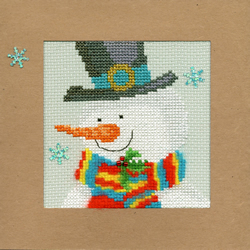 Cross stitch kit Christmas Cards - Snowy Man - Bothy Threads