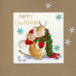 Cross stitch kit Christmas Cards - Counting Snowflakes - Bothy Threads