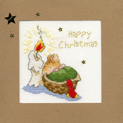 Cross stitch kit Christmas Cards - First Christmas - Bothy Threads