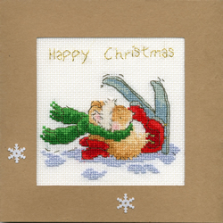 Cross stitch kit Christmas Cards - Apres Ski - Bothy Threads
