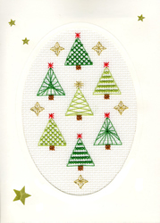 Cross stitch kit Christmas Cards - Christmas Forest - Bothy Threads