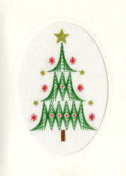 Cross stitch kit Christmas Cards - Christmas Tree - Bothy Threads