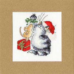 Borduurpakket Margaret Sherry - Under The Mistletoe - Bothy Threads
