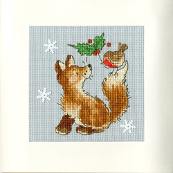 Cross stitch kit Margaret Sherry - Christmas Friends - Bothy Threads