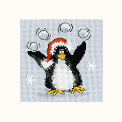 Cross stitch kit Margaret Sherry - PPP Playing Snowballs - Bothy Threads