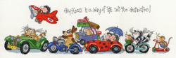 Borduurpakket Margaret Sherry - Happiness is a Way of Life - Bothy Threads