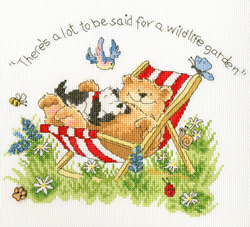 Borduurpakket Margaret Sherry - Wildlife Garden - Bothy Threads