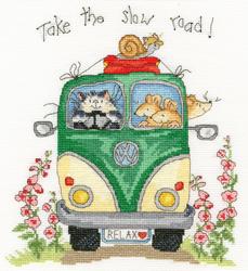 Cross stitch kit Margaret Sherry - Take The Slow Road - Bothy Threads