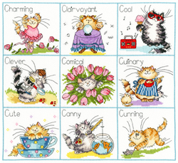 Cross stitch kit Margaret Sherry - It's A Cat's Life - Bothy Threads