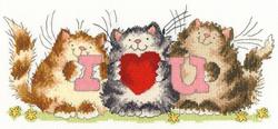 Borduurpakket Margaret Sherry - I Heart U - Bothy Threads