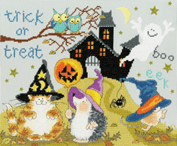 Cross stitch kit Margaret Sherry - Trick Or Treat - Bothy Threads