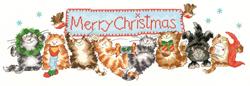 Cross stitch kit Margaret Sherry - Merry Catmas - Bothy Threads