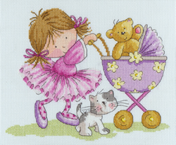 Cross stitch kit Little Jem - Ted's Outing - Bothy Threads