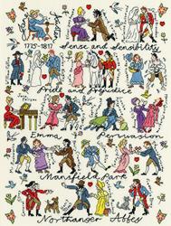 Cross stitch kit Historical - Jane Austen - Bothy Threads