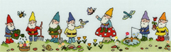 Cross stitch kit Row of... - Row of Gnomes - Bothy Threads