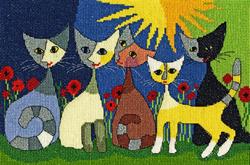 Borduurpakket Five Cats - Bothy Threads