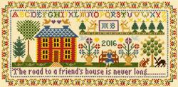 Borduurpakket Moira Blackburn - Friends House - Bothy Threads