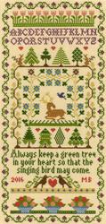 Cross stitch kit Moira Blackburn - Green Tree - Bothy Threads