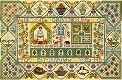 Cross stitch kit Moira Blackburn - Peaceful Garden - Bothy Threads