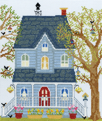 Cross stitch kit New England Homes - Spring - Bothy Threads