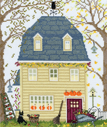 Cross stitch kit New England Homes - Fall - Bothy Threads