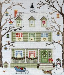Borduurpakket New England Homes - Winter - Bothy Threads