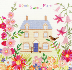 Cross stitch kit Friends & Family - Home Sweet Home - Bothy Threads