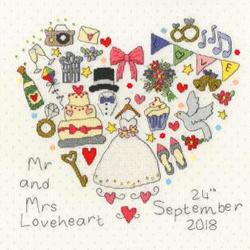 Borduurpakket Wedding Samplers - The Big Day! - Bothy Threads