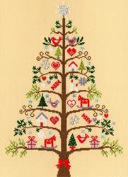 Cross stitch kit Christmas - Scandi Tree - Bothy Threads